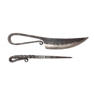 Messer mit Pfriem ohne Scheide